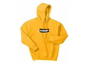 "Doomed Brand ""Sticky"" Hooded Pullover - Yellow"