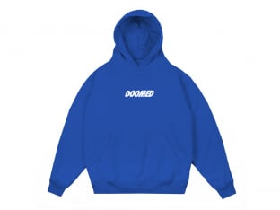 "Doomed Brand ""Textbook"" Hooded Pullover - Royal Blue"