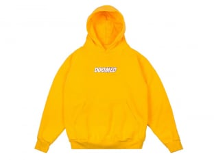 "Doomed Brand ""Textbook"" Hooded Pullover - Yellow"