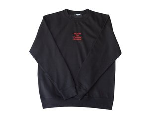 "Doomed Brand ""Thanks for Nothing"" Pullover - Black"