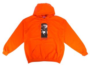 "Doomed Brand ""The End"" Hooded Pullover - Orange"
