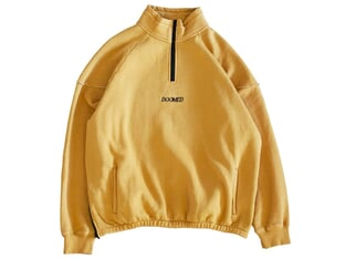 "Doomed Brand ""Truck Half Zip"" Pullover - Yellow"
