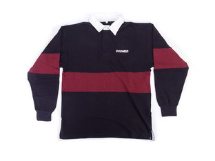 "Doomed Brand ""Will Carling Rugby Polo"" Hemd - Navy/Burgund"