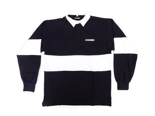 "Doomed Brand ""Will Carling Rugby Polo"" Hemd - Navy/White"