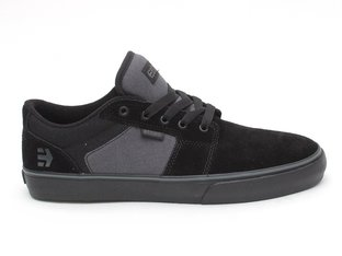 "Etnies ""Barge LS"" Shoes - Black/Grey/Black"
