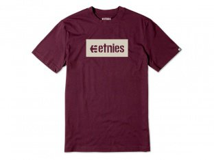 "Etnies ""Corp Box"" T-Shirt - Burgundy"