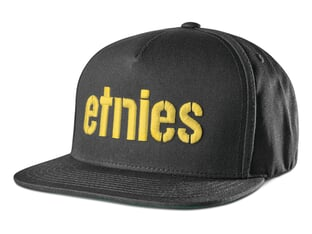 "Etnies ""Corp"" Kappe - Black/Yellow"
