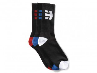 "Etnies ""Direct 3 Pack"" Socks (3 Pair) - Black"