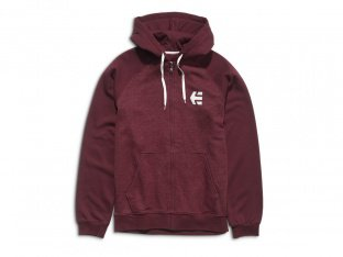 "Etnies ""E-Corp Zip"" Hooded Zipper - Burgundy"
