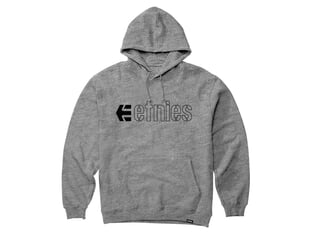 "Etnies ""Ecorp"" Hooded Pullover - Grey/Heather"