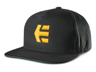 "Etnies ""Icon Snapback"" Cap - Black/Yellow"