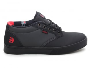 "Etnies ""Jameson Mid Crank"" Shoes - Black/Dark Grey/Red (Brandon Semenuk)"