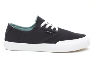 "Etnies ""Jameson Vulc LS"" Shoes - Black/White/Silver"