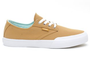 "Etnies ""Jameson Vulc LS"" Shoes - Tan/White"