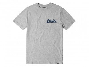"Etnies ""Speed Script"" T-Shirt - Grey/Heather"