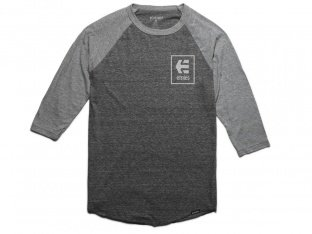 "Etnies ""Stack Box Raglan"" 3/4 Longsleeve - Grey/Heather"