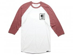 "Etnies ""Stack Box Raglan"" 3/4 Longsleeve - Red/White"