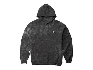 "Etnies ""Team Embroidery Wash"" Hooded Pullover - Black Wash"