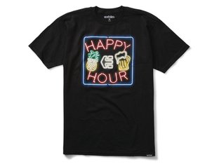 "Etnies X Happy Hour ""Neon"" T-Shirt - Black"