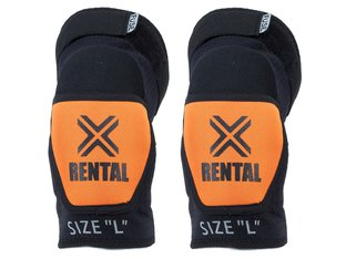 "FUSE ""Alpha Rental"" Knee Pads - Black/Orange"
