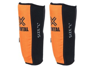 "FUSE ""Alpha Rental"" Shinguards - Black/Orange"
