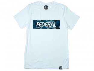 "Federal Bikes ""Blue Camo"" T-Shirt - White"