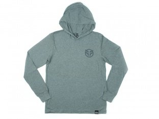 "Federal Bikes ""Logo"" Hooded Longsleeve - Heather Grey"