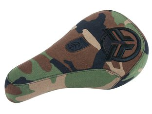 "Federal Bikes ""Logo Raised Embroidery / Green Camo Cover"" Pivotal Seat"