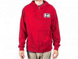 "Fit Bike Co. ""Patch"" Hooded Zipper - Red"