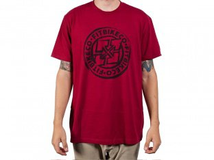 "Fit Bike Co. ""Sketched Emblem"" T-Shirt - Red"