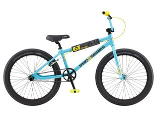 "GT Bikes ""Pro Series Heritage 24"" 2020 BMX Cruiser Bike - Blue/Black/Yellow 