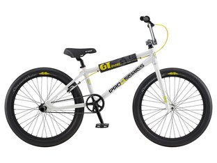 "GT Bikes ""Pro Series Heritage 24"" 2020 BMX Cruiser Bike - White/Black/Yellow 