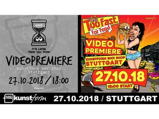 Cult & Bone Deth Video Premiere at kunstform BMX Shop