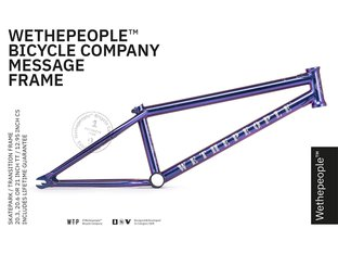 "wethepeople ""Message"" 2019 BMX Frame - Galactic Purple"