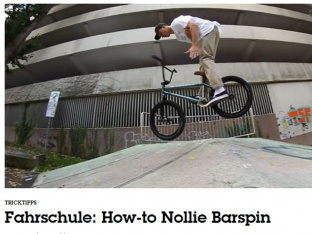 Freedombmx - HOW TO Nollie Barspin mit Miguel Smajli