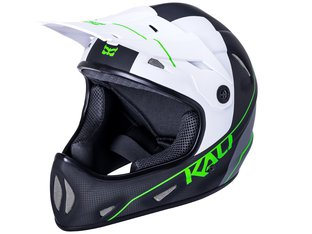 "Kali Protectives ""Alpine Carbon Pulse"" Fullface Helm - Matt Black/Green"