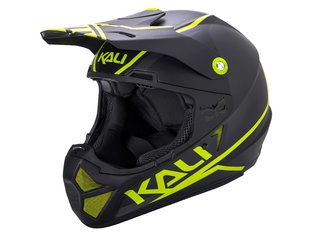 "Kali Protectives ""Shiva 2.0"" Fullface Helm - Black/Flourescent Yellow"