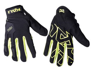 "Kali Protectives ""Venture"" Gloves - Black/Lime"
