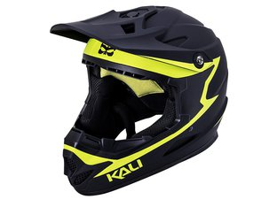 "Kali Protectives ""Zoka"" Fullface Helm - Black/Flourescent Yellow"