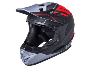 "Kali Protectives ""Zoka"" Fullface Helm - Black/Grey/Red"