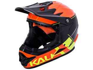 "Kali Protectives ""Zoka"" Fullface Helm - Orange/Flourescent Yellow"