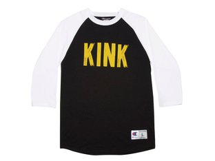 "Kink Bikes ""Back Alley"" 3/4 Longsleeve - Black/White"