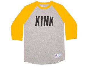 "Kink Bikes ""Back Alley"" 3/4 Longsleeve - Gold/Grey"
