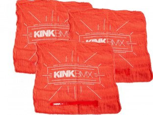 Kink Bikes Cleanin Rags (3 pc) + Velcro Strap