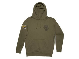 "Kink Bikes ""Worldwide Influence"" Hooded Pullover - Army Green"