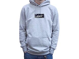 "Laterr Threads ""Script"" Hooded Pullover - Grey"