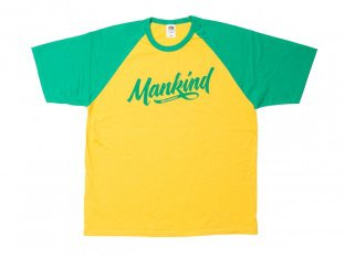 "Mankind Bike Co. ""Groove Raglan"" T-Shirt - Yellow/Green"