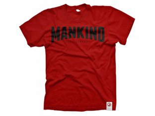 "Mankind Bike Co. ""Cinemascope"" T-Shirt - Red"