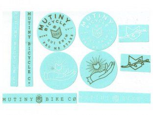 "Mutiny Bikes ""10pc"" Stickerset"