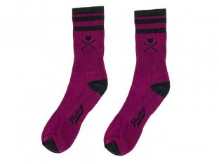 "Mutiny Bikes ""Crew"" Socks - Dark Red"